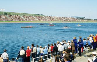 Гребной канал в Крылатском во время Олимпиады-1980