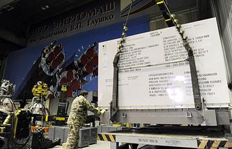 """РД-180, изготовленный на НПО """"Энергомаш"""", перед транспортировкой в аэропорт Шереметьево"""