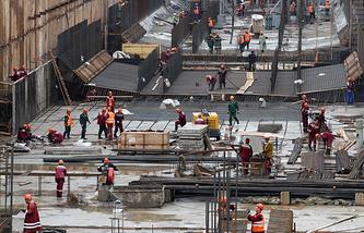 Строительство тоннеля метро