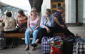 Беженцы с Украины