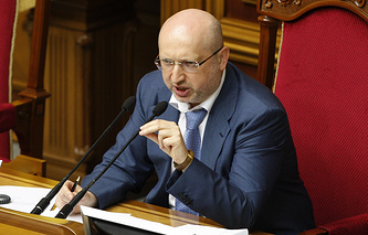 Спикер Верховной рады Александр Турчинов