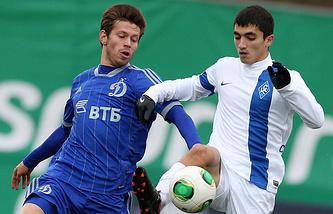 Федор Смолов (слева)