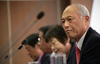 Губернатор Токио Ёити Масудзоэ на саммите Сети главных городов Азии в Томске