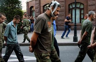 Военнопленные в Донецке