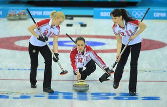 Женская сборная России по керлингу на Играх в Сочи
