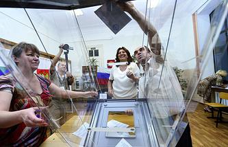 Подсчет голосов на выборах губернатора Приморского края