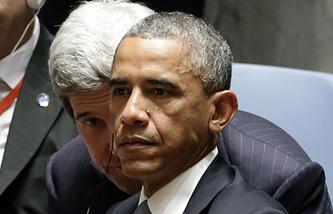 Джон Керри и Барак Обама