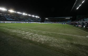 """Стадион """"Арена-Химки"""" перед матчем Лиги чемпионов в сезоне-2013/14"""