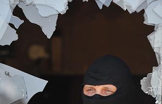 Результат обстрела в населенном пункте Украины