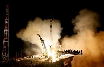 Запуск космического корабля на Байконуре