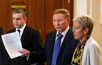 Михаил Зурабов, Леонид Кучма и Хайди Тальявини