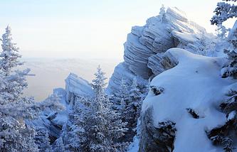 """Государственный природный национальный парк """"Таганай"""" в декабре"""