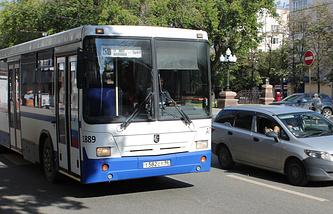Городской транспорт на улицах Екатеринбурга