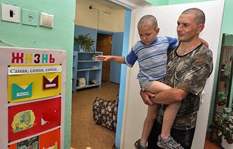 В пункте временного пребывания граждан с Юго-Востока Украины
