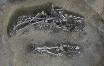 Фото с места раскопок