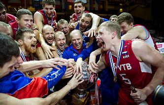 Сборная России по волейболу - чемпион Европы-2013