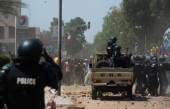 Протесты в столице Буркина-Фасо Уагадугу