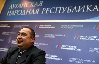 Пресс-конференция Игоря Плотницкого в Луганске