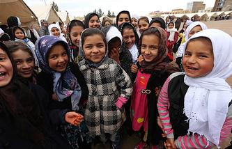Школьники в Афганистане