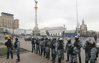 Киев. Площадь Независимости. Ноябрь 2013 года