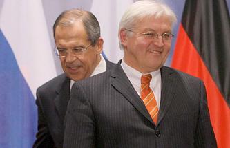Сергей Лавров и Франк-Вальтер Штайнмайер