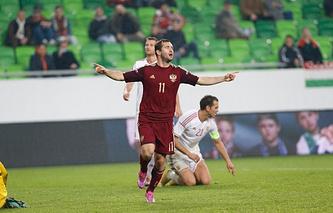 Нападающий сборной России Александр Кержаков