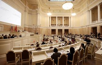 Зал заседаний Законодательного собрания Санкт-Петербурга