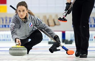 Скип женской сборной России Анна Сидорова