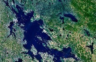 Выгозеро снимок NASA