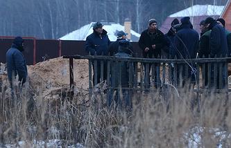 Московская область. 4 декабря. На месте крушения самолета около деревни Чемодурово Воскресенского района