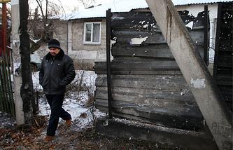 Житель Донецка на одной из улиц города