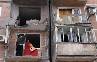 Донецк. Последствия обстрела