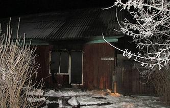 Сгоревший дом в селе Ярково (Тюменская область)