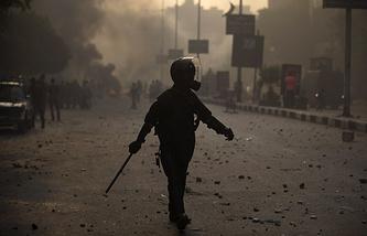 Египетский полицейский, архивное фото