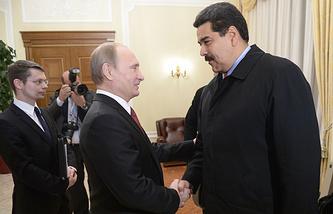 Президент России Владимир Путин и президент Венесуэлы Николас Мадуро