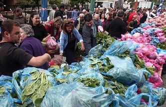 Овощной рынок в Афинах