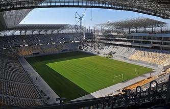 """Вид на стадион """"Арена Львов"""""""