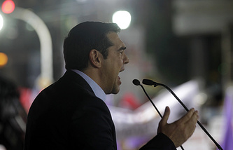 Лидер греческой партии СИРИЗА Алексис Ципрас