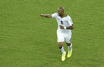 Нападающий сборной Ганы Андре Айю