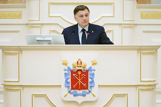 Председатель Законодательного собрания Петербурга Вячеслав Макаров.