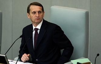 Спикер Госдумы Сергей Нарышкин