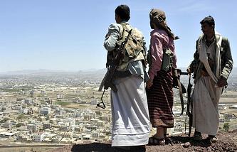 Шиитские повстанцы. Йемен, город Сана