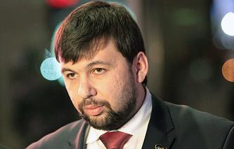 Полпред провозглашенной Донецкой народной республики Денис Пушилин