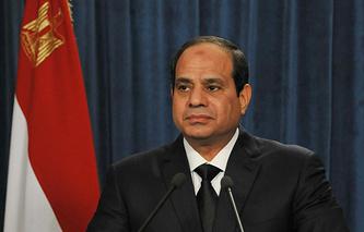 Президент Египта Абдель Фаттах ас-Сиси во время обращения к нации