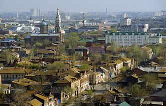 Вид на Астрахань