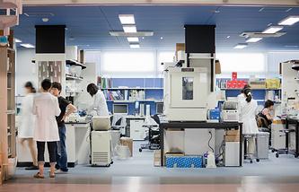 Лаборатория центра изучения стволовых клеток в Киото