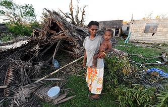 """Последствия циклона """"Пэм"""" в Вануату"""