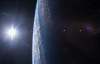 Вид на Землю с орбитальной станции