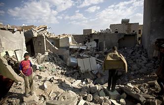 Последствия авиаударов аравийской коалиции