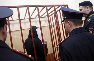 Хамзат Бахаев в Басманном суде, 6 апреля 2015 года